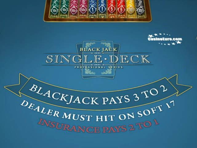 Kartenspiel Single Deck BlackJack